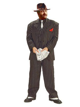 the Chicago Gangster Costume (XL Size)