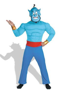 Adult Muscle Disney Aladdin Genie Costume