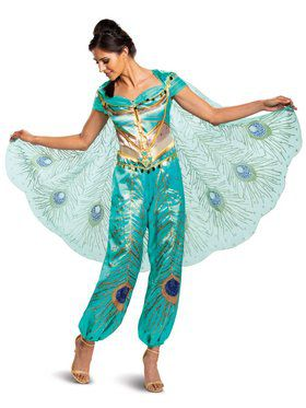 Aladdin Princess Jasmine Teal Deluxe Adult Costume