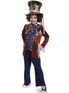 Boys Deluxe Mad Hatter Alice Through The Looking Glass Costume