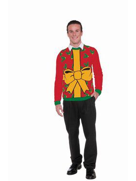 All Wrapped Up Christmas Sweater - Red