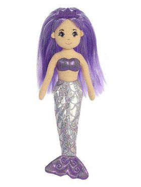 Amethyst Sea Sparkles Mermaid Plush