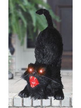 Light Up Eyes Animated Cat Prop