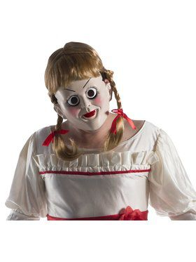 Adult Annabelle: Creation Annabelle 2018 Halloween Masks with Wig