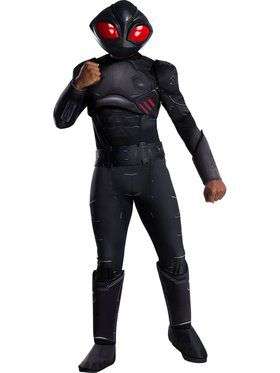 Deluxe Men's Aquaman Movie Black Manta Costume