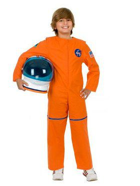 Astronaut Suit Boy's Child Orange