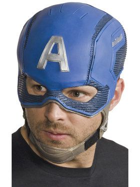Avengers 2 - Age of Ultron: Adult Captain America Molded Mask