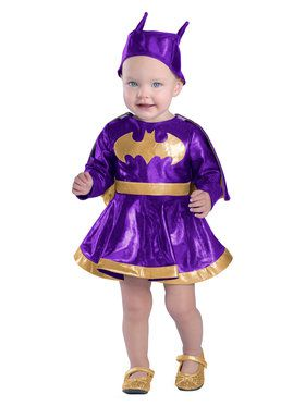 Infant Batgirl Costume Set With Diaper Cover