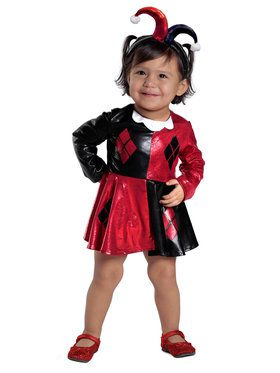 Infant Harley Quinn Costume Set With Diaper Cover