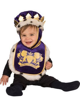 King Bib & Crown Baby Costume