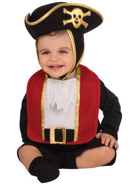 Baby Pirate Bib & Hat Costume