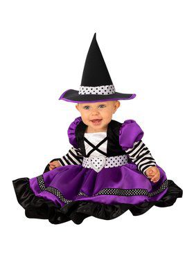 Black & Purple Witch Baby Costume