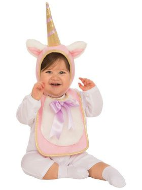 Baby Unicorn Bib & Hat Costume