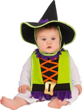 Witch Bib & Hat Baby Costume