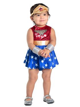 Toddler Wonder Woman Diaper Cover Dress