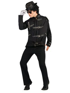 Bad Black Buckle Deluxe Adult Michael Jackson Jacket