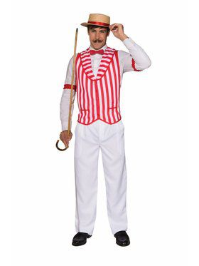 Barber Shop Quartet Vest - Standard Adult Costume