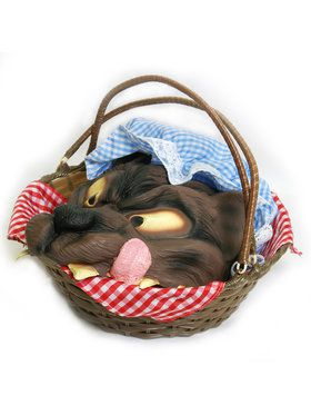 Basket with Wolf's Head One Size