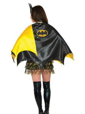 Deluxe Adult Black and Yellow Batgirl Cape
