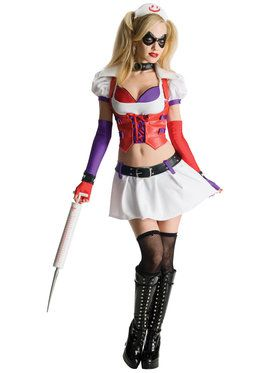 Batman Arkham City Asylum Harley Quinn Adult Costume Large
