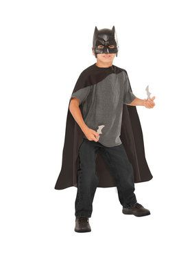 Child's Batman Cape, 2018 Halloween Masks and Batarangs Set