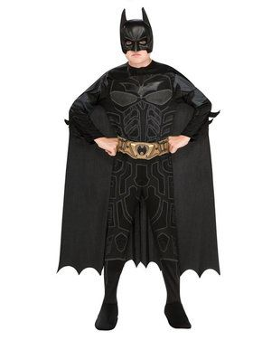 Child's Batman Jumpsuit Belt, Cape and 2018 Halloween Masks