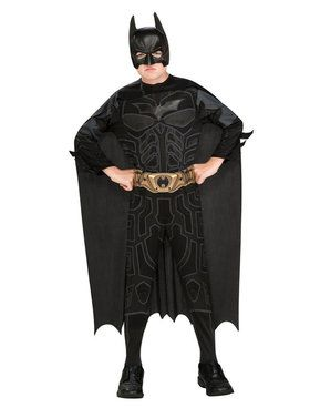 Child's Batman Jumpsuit Cape & 2018 Halloween Masks Costume