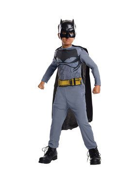 Child's Batman Jumpsuit, Cape & 2018 Halloween Masks Set