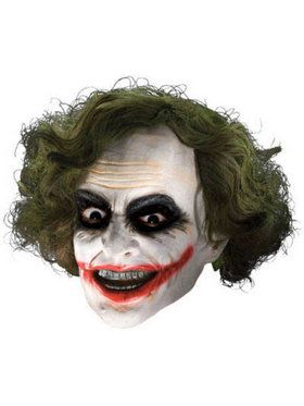 Adult Batman Dark Knight Joker 3/4 Vinyl 2018 Halloween Masks