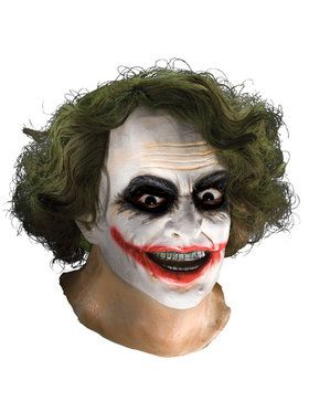 Adult Latex Joker 2018 Halloween Masks with Hair - Batman Dark Knight
