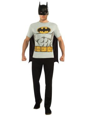 Adult Batman T-Shirt Costume Kit
