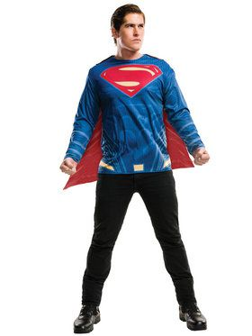 Batman V Superman Dawn of Justice Adult Superman Costume Top