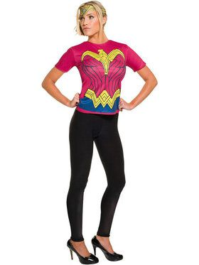 Batman v Superman Dawn of Justice Wonder Woman Top Costume for Adults
