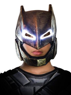 Batman v Superman Dawn of Justice Batman Armored Light Up 2018 Halloween Masks for Adults