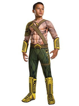 Boy's Dawn of Justice Deluxe Aquaman Costume
