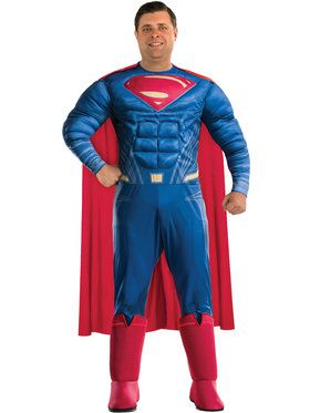 Deluxe Batman vs. Superman Dawn of Justice Superman Deluxe Costume with 3D Boot Tops