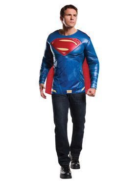 Batman v Superman Dawn of Justice Muscle Chest Superman Top Costume for Adults