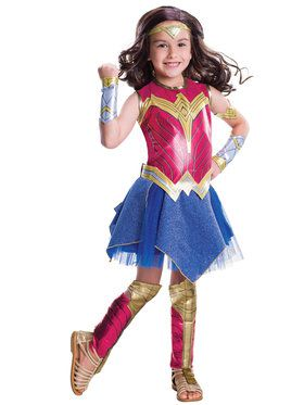 Girl's Dawn of Justice Deluxe Wonder Woman Costume