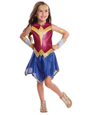 Girl's Dawn of Justice Wonder Woman Costume