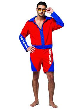 Baywatch - Male Lifeguard Suit Adult Costume
