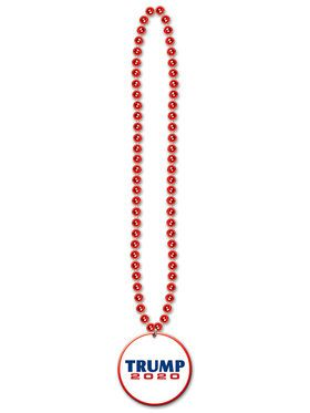 "Beads w/Republican Candidate 33 "" Medallion"