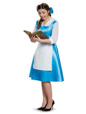 Beauty and the Beast Belle Blue Dress Ladies Costume