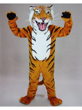 Adult Bengal Tiger Mascot Costume