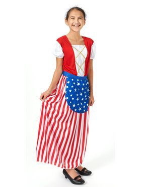 Betsy Ross Heroes In History Child Costume Small