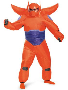 Big Hero 6 Red Baymax Inflatable Men's Costume