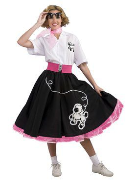 Black 50s Poodle Skirt