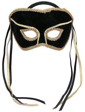 Black and Gold Masquerade Mask