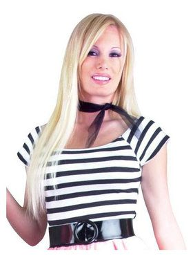 Black And White 50s Top Adult Costume