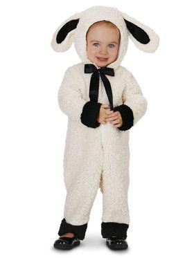 Black and White Baby Lamb Toddler Costume