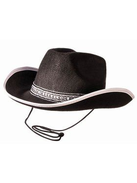 Black Cowboy Hat With Silver Band